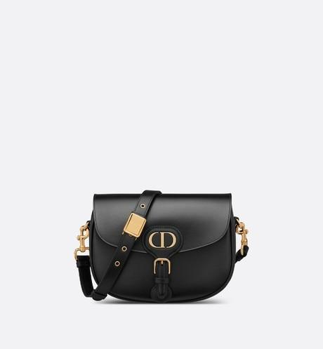 Medium Dior Bobby Bag • Black Box Calfskin