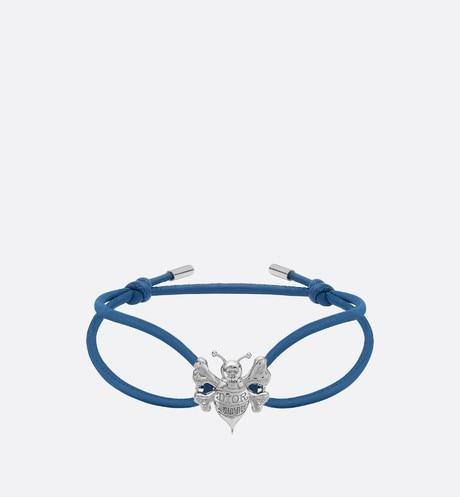 DIOR AND SHAWN Cord Bracelet • Blue Calfskin