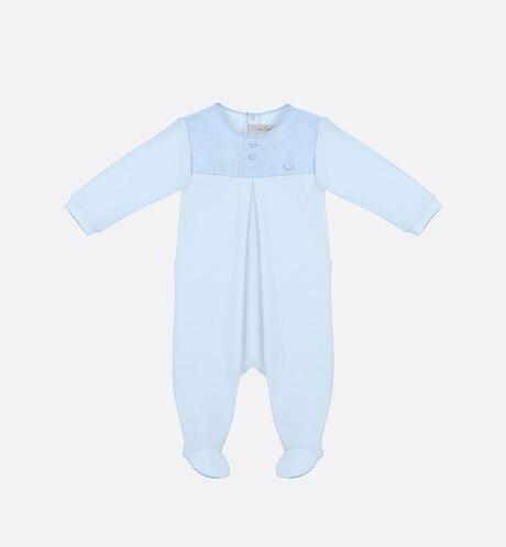 Cannage Sleepsuit • Sky Blue Cotton Interlock