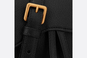 Saddle Belt Pouch • Black Goatskin