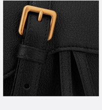 Load image into Gallery viewer, Saddle Belt Pouch • Black Goatskin