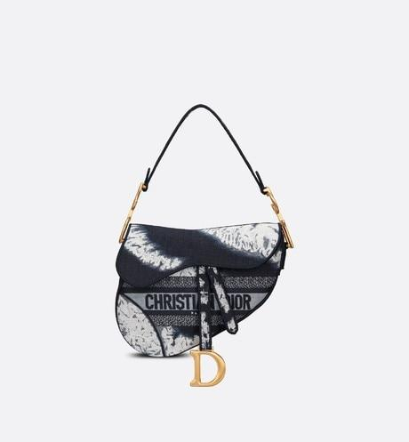Saddle Bag • Blue Multicolor Tie & Dior Embroidery