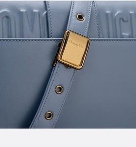 30 Montaigne Flap Bag • Dark Denim Blue Box Calfskin