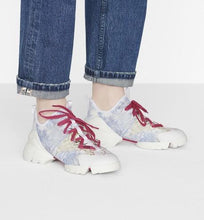 Load image into Gallery viewer, D-Connect Sneaker • Blue Technical Fabric with Dior Around the World Print