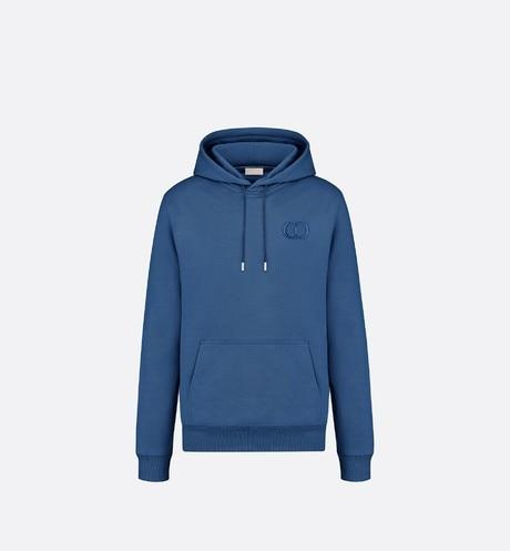 'CD Icon' Hooded Sweatshirt • Blue Cotton Fleece
