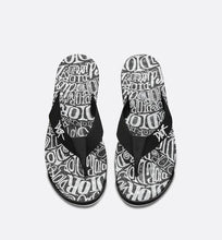 Load image into Gallery viewer, Flip-Flops • Black Nylon with DIOR AND SHAWN Embroidery