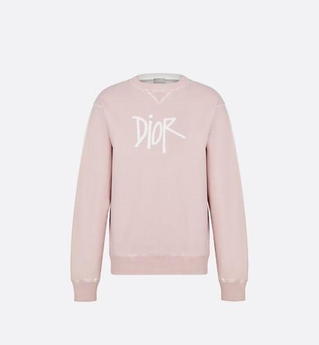 DIOR AND SHAWN Oversized Sweatshirt • Pink Cotton Fleece