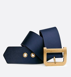 Diorquake Belt • Indigo Blue Calfskin, 55 MM