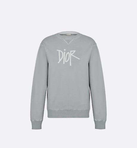 DIOR AND SHAWN Sweatshirt • Gray Cotton Fleece