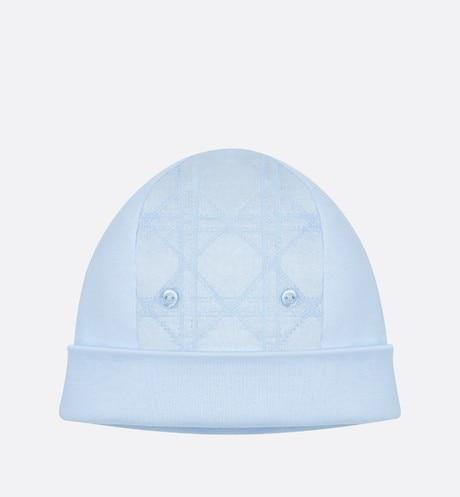 Cannage Bonnet • Sky Blue Interlock and Cotton Poplin