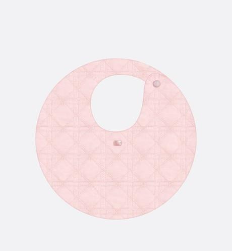 Bib • Pale Pink Cotton Poplin Embroidery