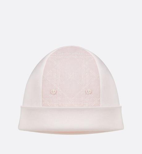 Cannage Bonnet • Pale Pink Interlock and Cotton Poplin