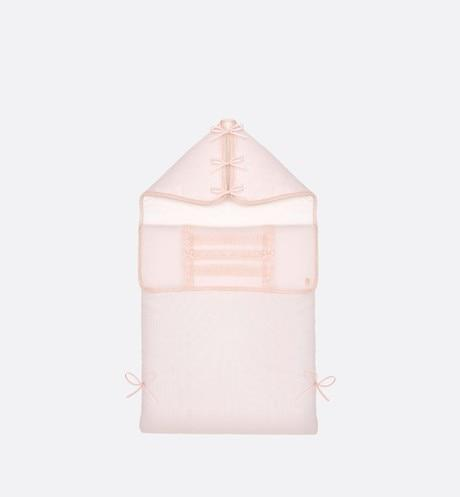 Bunting Bag • Pink Interlock and Cotton Voile