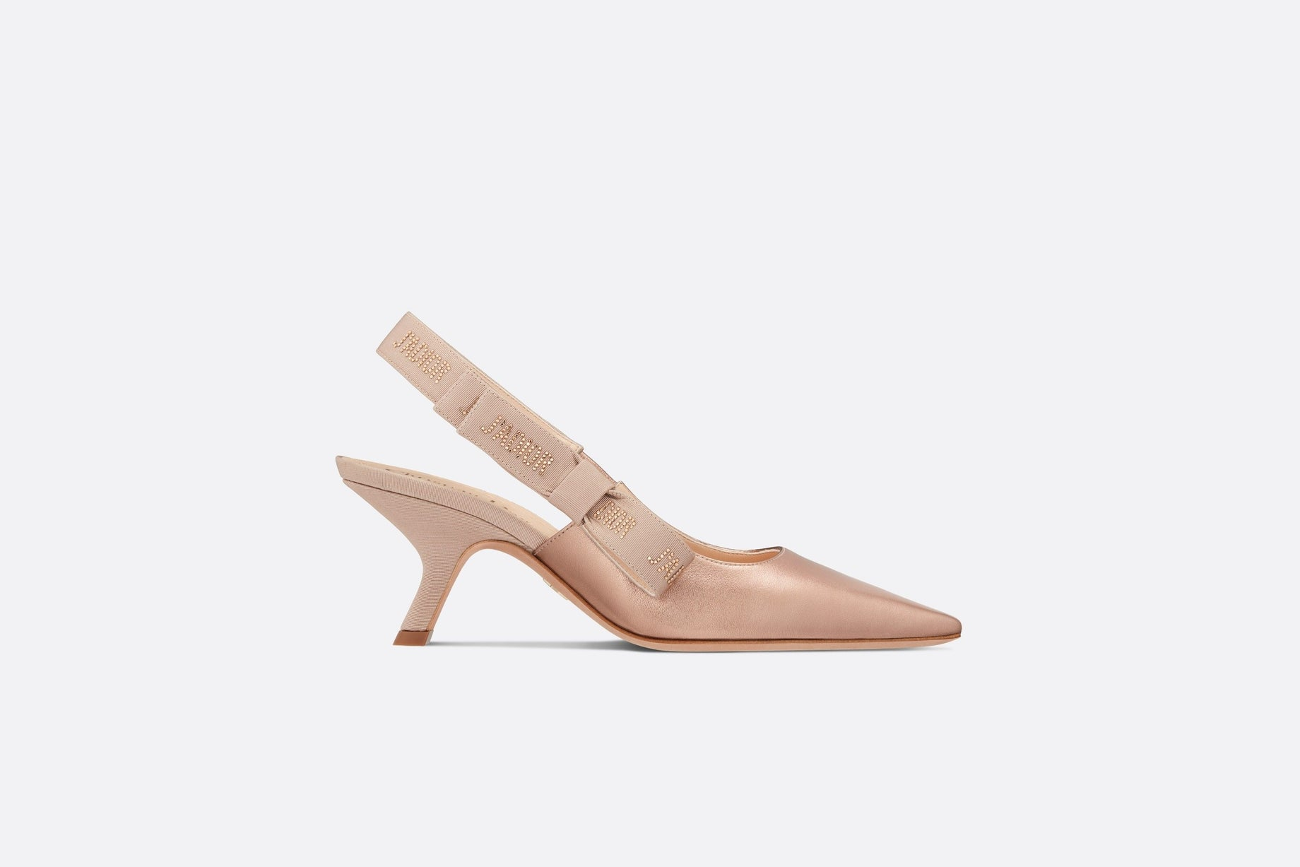J'Adior Slingback Pump • Metallic Rose Gold Lambskin
