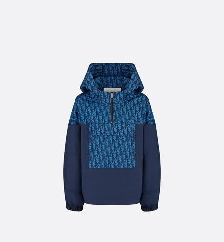 Hooded Anorak • Blue Dior Oblique Water-Repellent Canvas