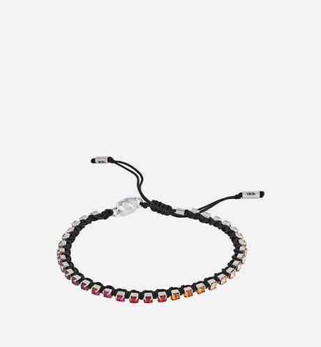 Bracelet • Black Technical Rope and Multicolor Crystals