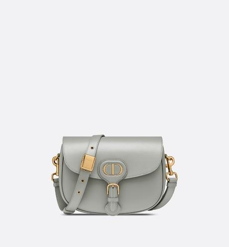 Medium Dior Bobby Bag • Gray Box Calfskin