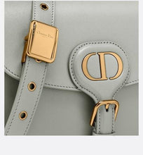 Load image into Gallery viewer, Medium Dior Bobby Bag • Gray Box Calfskin