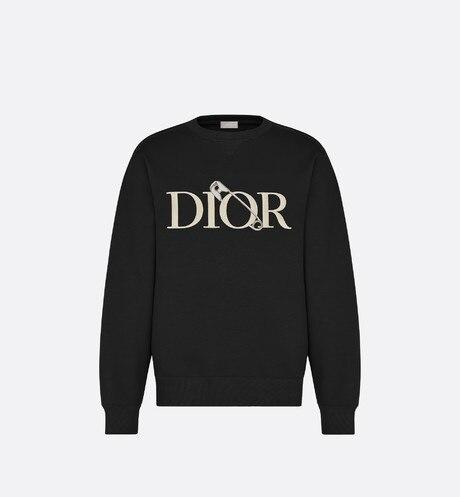 Oversized DIOR AND JUDY BLAME Sweatshirt • Black Cotton Fleece