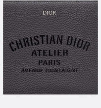 Load image into Gallery viewer, Christian Dior Atelier pouch • Dark gray grained calfskin