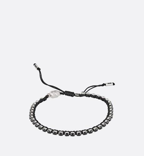 Bracelet • Black Technical Rope and Black Crystals