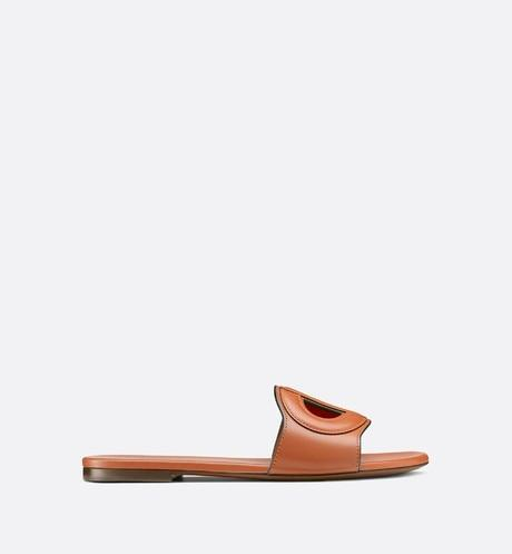 D-Club Slide • Dark Tan Calfskin