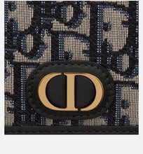 Load image into Gallery viewer, 30 Montaigne Flat Card Holder • Blue Dior Oblique Jacquard