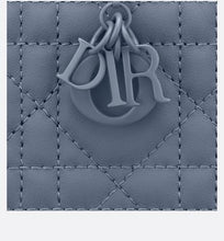 Load image into Gallery viewer, Lady Dior 5-Gusset Card Holder • Denim Blue Ultramatte Cannage Calfskin
