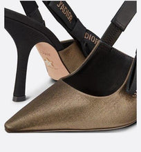 Load image into Gallery viewer, J'Adior Slingback Pump • Metallic Bronze Fabric
