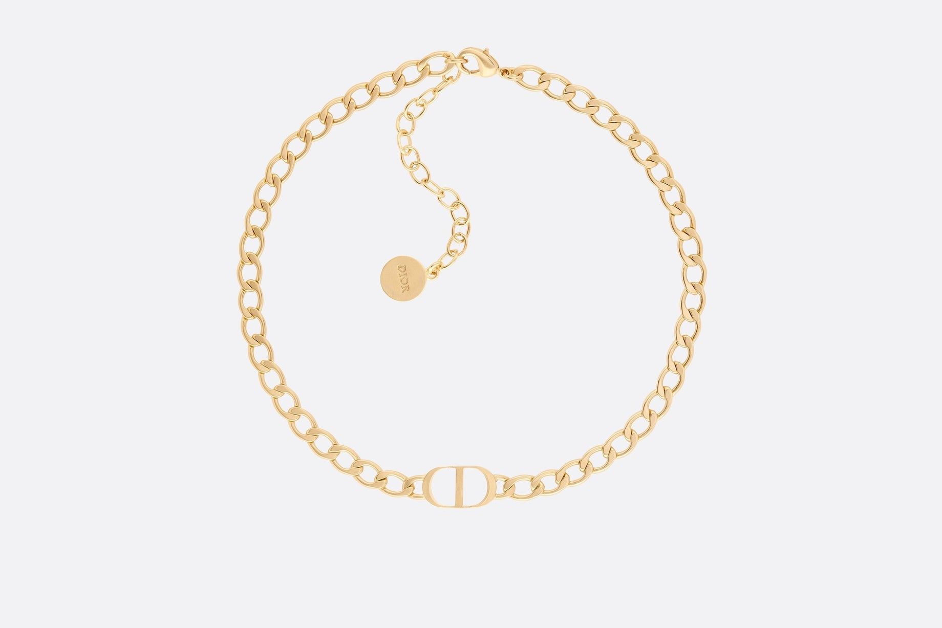 Petit CD Choker Necklace • Gold-Finish Metal