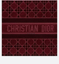 Load image into Gallery viewer, Dior Book Tote • Burgundy Cannage Embroidered Velvet