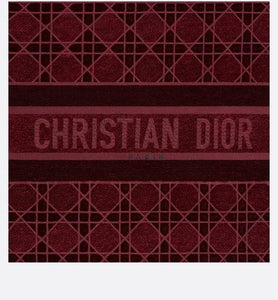 Dior Book Tote • Burgundy Cannage Embroidered Velvet