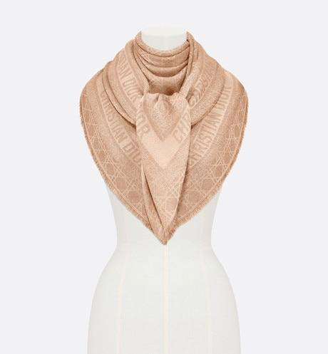 Dior Little Cannage Shawl • Beige Wool, Silk, Cashmere and Metallic Thread Jacquard