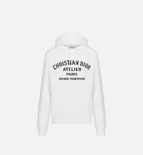 Oversized Christian Dior Atelier Hooded Sweatshirt • Black Cotton Fleece