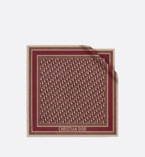 Load image into Gallery viewer, Dior Oblique Square Scarf • Burgundy Silk Twill