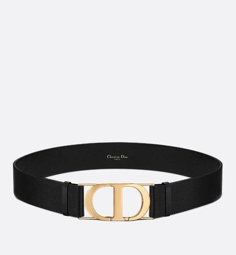 30 Montaigne Belt • Black Smooth Calfskin, 40 MM