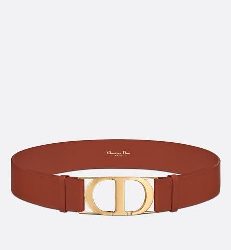 30 Montaigne Belt • Dark Tan Smooth Calfskin, 40 MM