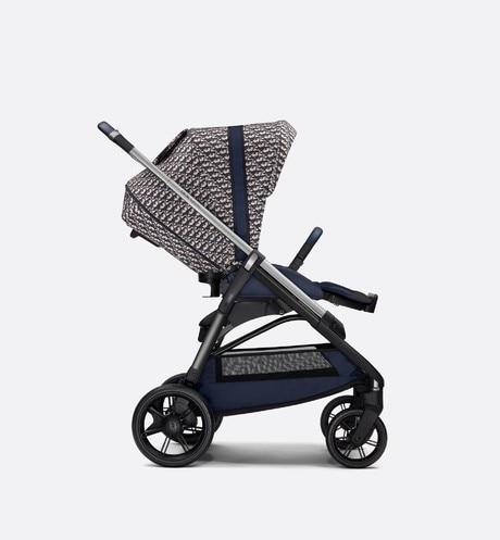 Stroller • Blue and Beige Water-Repellent Canvas with Dior Oblique Print