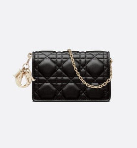 Lady Dior Nano Pouch • Black Cannage Lambskin