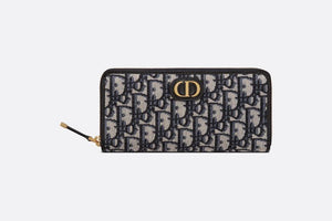 30 Montaigne Wallet • Blue Dior Oblique Jacquard