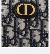 Load image into Gallery viewer, 30 Montaigne Wallet • Blue Dior Oblique Jacquard