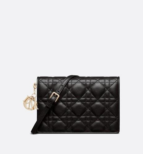Lady Dior Pouch • Black Cannage Lambskin