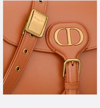 Load image into Gallery viewer, Medium Dior Bobby Bag • Dark Tan Box Calfskin