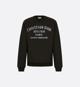 Oversized 'Christian Dior Atelier' Sweatshirt • Black Cotton Fleece