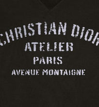 Load image into Gallery viewer, Oversized 'Christian Dior Atelier' Sweatshirt • Black Cotton Fleece