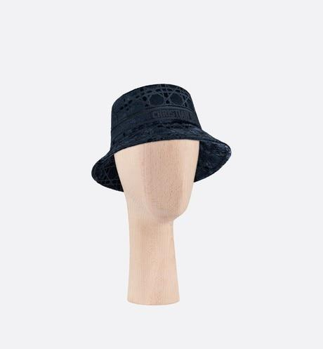 Dior Cannage Small Brim Bucket Hat • Blue Velvet