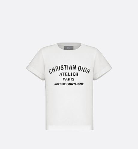 'Christian Dior Atelier' T-Shirt • White Cotton Jersey