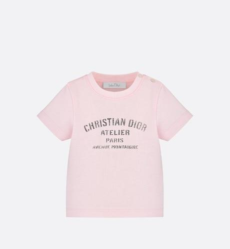 'Christian Dior Atelier' T-Shirt • Pale Pink Cotton Jersey
