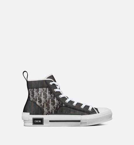 B23 High-Top Sneaker • Black and White Dior Oblique Canvas