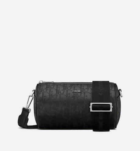 Roller Messenger Bag • Black Dior Oblique Galaxy Leather